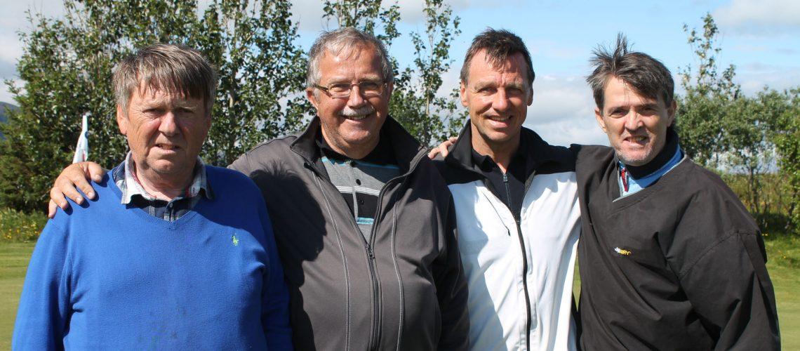 Olli, Pétur, Gummi og Jón vefur
