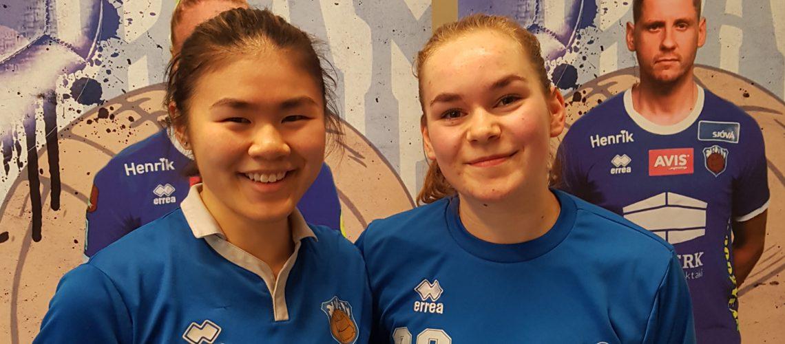 Sara og Valgerður U17 kvenna vefur
